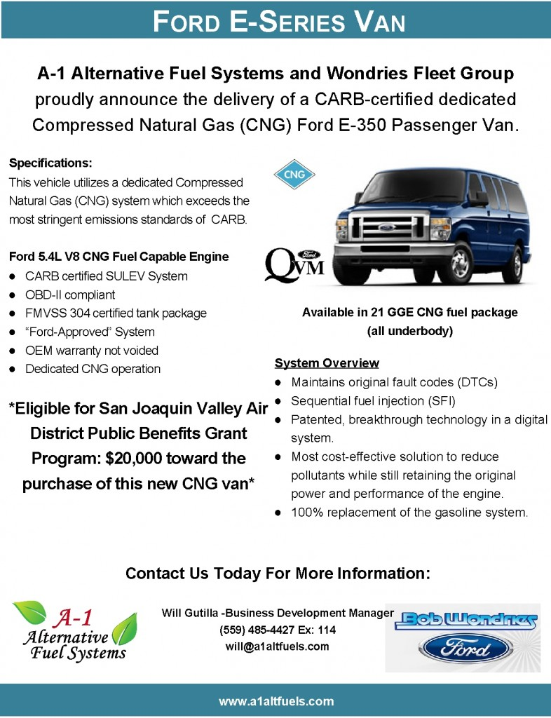 Ford E-Series Vans (Public Benefit Grants)